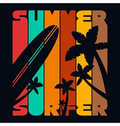 Summer Surfer T-shirt Typography Graphics vector image vector image