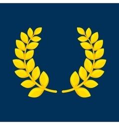 Wreath leafs gold award vector