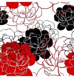 Beautiful peonies pattern - vector image