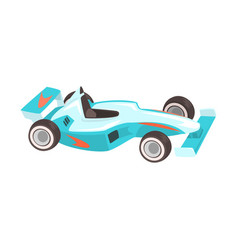 Blue sportive formula one car racing related vector