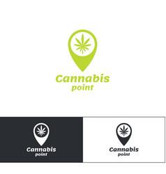 cannabis point logo vector image vector image