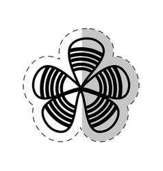 flower decoration petal cut line vector image vector image