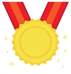 golden medal in flat style vector image