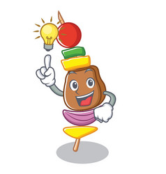 have an idea barbecue character cartoon style vector image