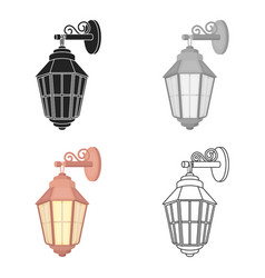 street lantern icon in cartoon style isolated on vector image