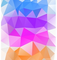Triangle background Multicolor polygons vector image vector image