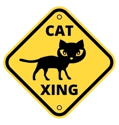 Cat sign vector image vector image