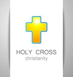 Holy cross logo vector