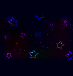 multicolored stars on a dark background vector image vector image