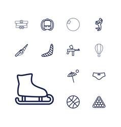 13 recreation icons vector