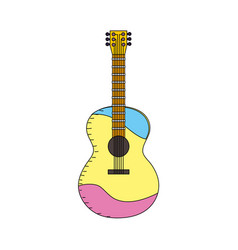 acoustic guitar play music instrument vector image