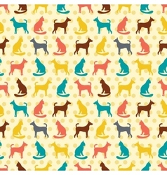 Animal seamless pattern of cat and dog vector