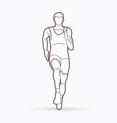 athlete runner a man runner running front view vector image