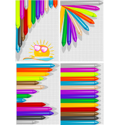 Backgrounds with crayons vector