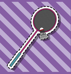 Badminton shuttlecock ball element patch vector
