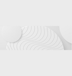 Banner abstract geometric white and gray color vector