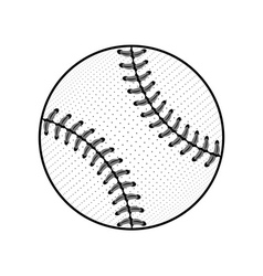 Baseball ball sign black isolated vector