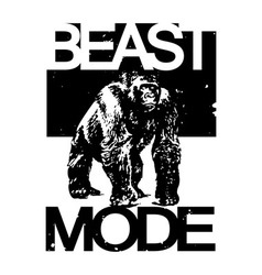 Beast Mode Big Gorilla Monkey T-shirt Design vector