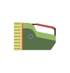 big electric tourist flashlight handle flat icon vector image