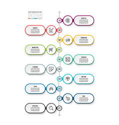 Business work flow infographic template vector