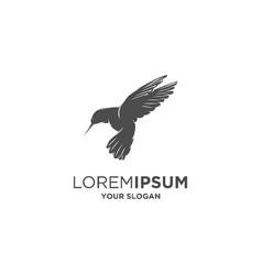 colibri silhouette vector image