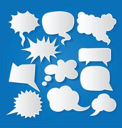 Comic bubble speech balloons speech cartoon 212 vector
