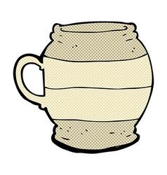 comic cartoon big mug vector image