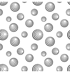 Concentric circles on white background vector