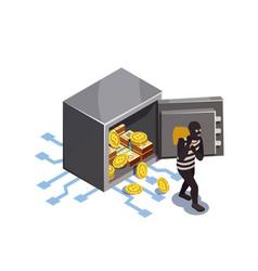 Cyber rip-job concept vector