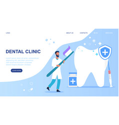 dental clinic care vector image
