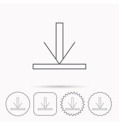 Download icon Down arrow sign vector image