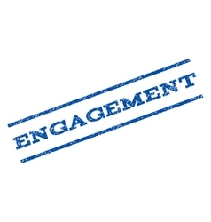 Engagement watermark stamp vector