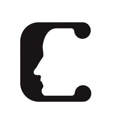 English font upper case letter c c logo logotype - vector