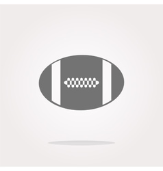 Football ball icon web button vector