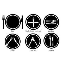 fork knife and plate serving vector image