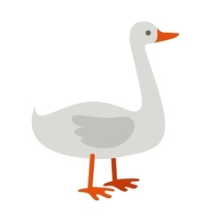 Goose Flat Design on White vector image