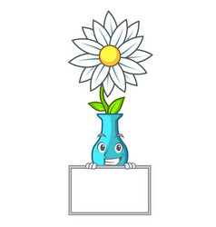 grinning with board vase with bouquet of beautiful vector image