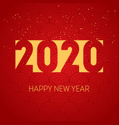 Happy new year 2020 background cover business vector