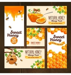 Honey advertising banners vector