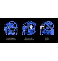 House and garden protection abstract concept vector