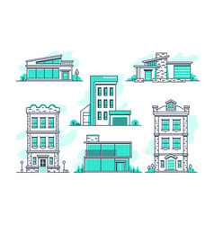 Houses and buildings property and accommodation vector