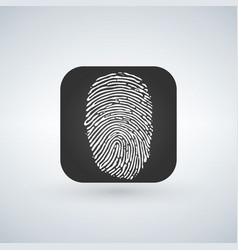 id app icon fingerprint icon isolated on modern vector image