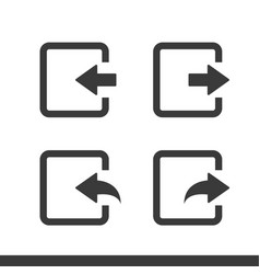In and out arrow web icons vector