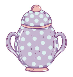 Isolated porcelain sugar bowl design vector