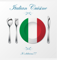 italian cuisine cutlery vector image