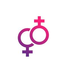 lesbian couple icon vector image