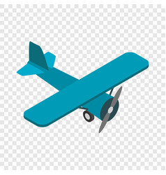 Light aircraft isometric icon vector