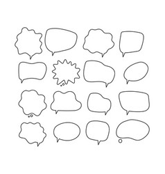 linear speech bubbles scribe round shapes vector image