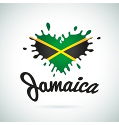 Love Jamaica lettering Heart vector
