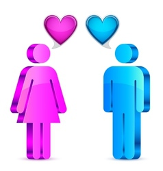 Man and woman love concept vector image